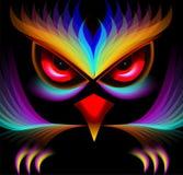 抽象猫头鹰绘画 图库摄影