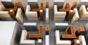 抽象现代几何形状 免版税库存照片