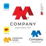 抽象现代商标设计和建筑大厦企业身分品牌App象标志概念集合模板 库存图片