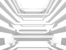 抽象现代白色建筑学背景 免版税库存图片