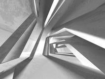 抽象现代白色建筑学背景 皇族释放例证