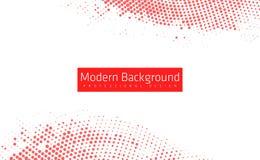 抽象现代红颜色背景 与eps10的惊人的几何传染媒介例证 库存图片