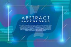 抽象现代背景流体霓虹梯度作用时髦五颜六色和未来派 库存例证