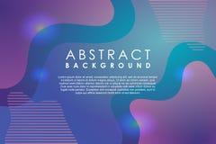 抽象现代背景流体霓虹梯度作用时髦五颜六色和未来派 向量例证