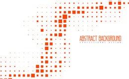 抽象现代马赛克橙色颜色背景 与eps10的惊人的几何传染媒介例证 免版税库存图片