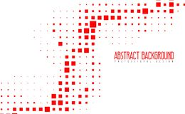 抽象现代马赛克红颜色背景 与eps10的惊人的几何传染媒介例证 免版税库存照片