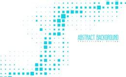 抽象现代马赛克蓝色颜色背景 与eps10的惊人的几何传染媒介例证 免版税库存图片