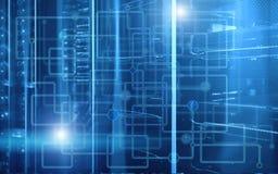 _抽象现代data数据中心室 电子计算机硬件技术概念 墙纸技术背景 皇族释放例证