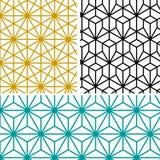 抽象现代几何六角形样式 免版税库存图片