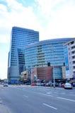 抽象现代大厦背景 免版税图库摄影