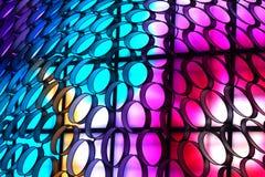 抽象现代科学幻想小说背景-现代,五颜六色,专辑点燃背景 库存图片