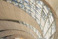 抽象现代建筑学大厦的美好的样式在Su 免版税图库摄影