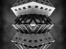 抽象现代建筑学对称艺术 免版税库存照片