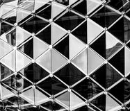抽象玻璃墙内部样式背景 图库摄影