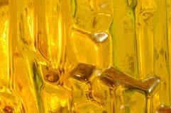 抽象玻璃替补黄色 免版税库存图片