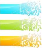抽象玻璃横幅 免版税库存图片