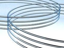 抽象玻璃管道 皇族释放例证