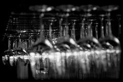 抽象玻璃酒 库存照片