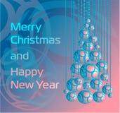 抽象球圣诞树 免版税库存照片