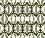 抽象球形无缝的3d喜欢纹理 重叠的圈子,球坑无缝的样式 传染媒介例证为 库存图片