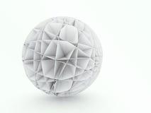抽象球形3D建筑设计 库存图片