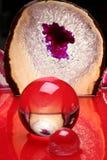 抽象球水晶红色 免版税库存图片