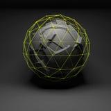 抽象球状对象,混乱破碎 皇族释放例证