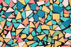 抽象瓦片马赛克样式 免版税库存图片