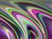 抽象生动的紫色闪耀的流体线几何,抽象图表 向量例证