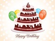抽象生日蛋糕背景传染媒介例证 图库摄影