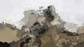 抽象生气蓬勃的瞬息弄脏了背景无缝的圈录影中立裸体颜色棕色米黄gr 皇族释放例证