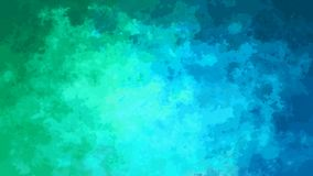 抽象生气蓬勃的被弄脏的背景无缝的圈录影霓虹蓝绿色和深蓝颜色 影视素材