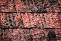 抽象生锈的金属板屋顶 免版税库存照片