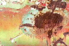 抽象生锈的金属背景 免版税库存图片