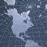 抽象电信地球地图 免版税库存图片