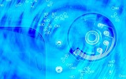 抽象电子计算机背景和的纹理  免版税库存图片