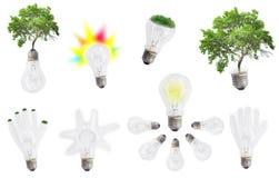 抽象电灯泡集合或汇集 库存图片