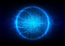 抽象电路板技术背景 例证 免版税库存图片