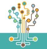 抽象电路板树  免版税库存图片