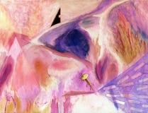 抽象画布油画 免版税库存照片