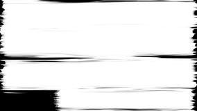抽象画笔冲程 黑白转折背景 库存例证