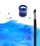 抽象画笔油漆 免版税库存照片
