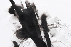 抽象画笔绘画 免版税库存照片