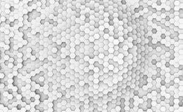 抽象白色六角细胞壁 免版税图库摄影