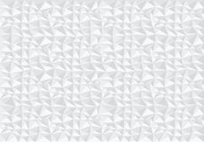 抽象白色多角形样式背景纹理传染媒介 免版税库存照片