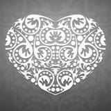 抽象白色心脏 免版税库存照片