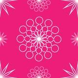 在桃红色的无缝的抽象星 库存照片