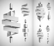 抽象白色立方体空白 免版税库存图片