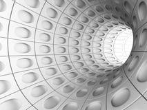 抽象白色隧道3d背景 免版税图库摄影