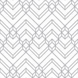 抽象白色&灰色轻的雪佛几何样式 免版税库存照片